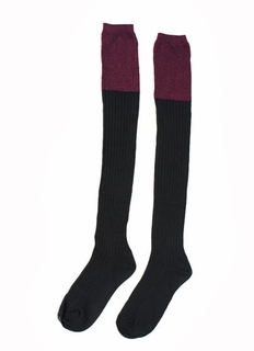 Colorblock Thigh-High Socks
