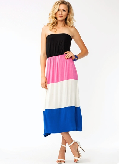 Colorblocked Maxi Dress