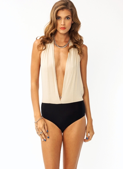 Come To A Halter Bodysuit