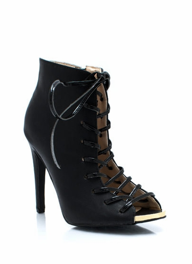 Corset Lace-Up Booties