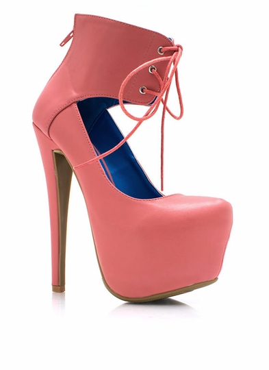 Corset Of Action Platform Pumps