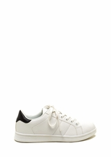 Courtside Faux Leather Contrast Sneakers