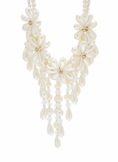 Covered In Pearls Bib Necklace Set