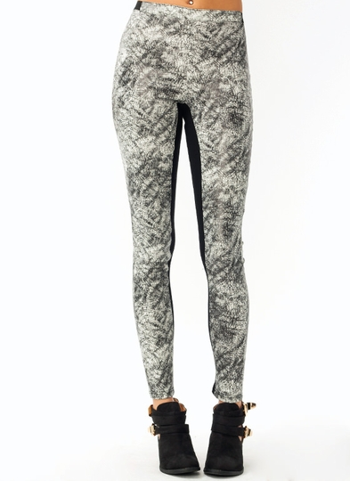 Crackled Contrast Pants