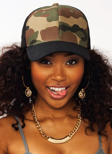 Crazy For Camo Trucker Snapback