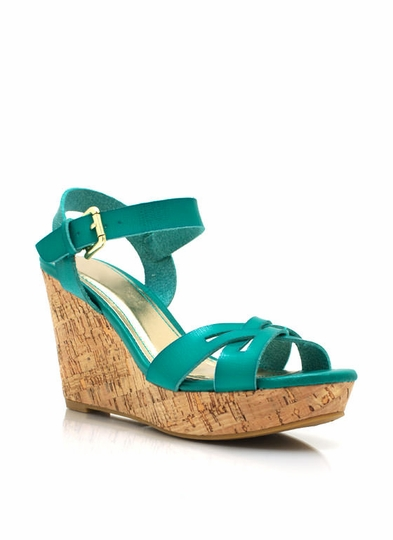 Crisscross Cork Wedges