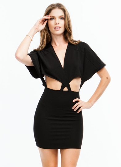 Crisscross Cut-Out Dress