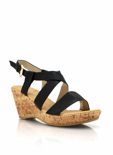 Crisscross Faux Wood Wedges