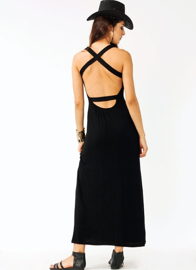 Crisscross Maxi Dress