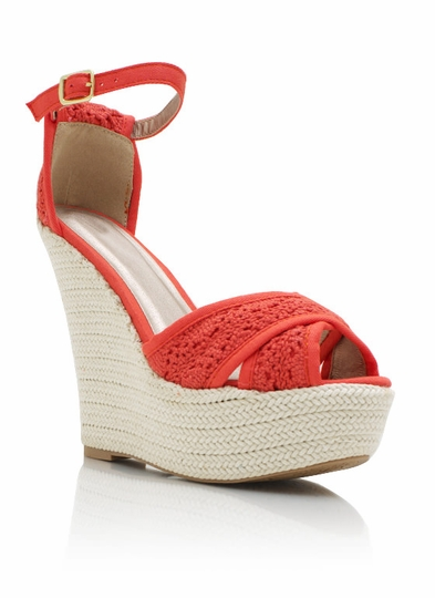 Crochet Ankle Strap Wedges