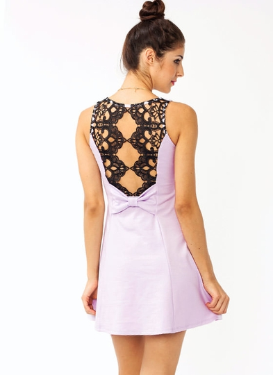Crochet Back Dress