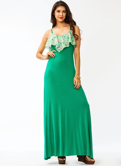 Crochet Draped Maxi Dress