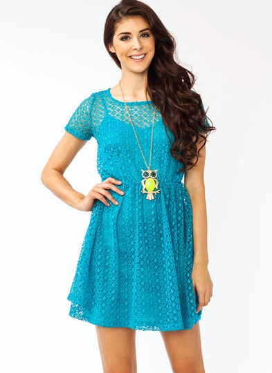 Crochet Overlay Dress