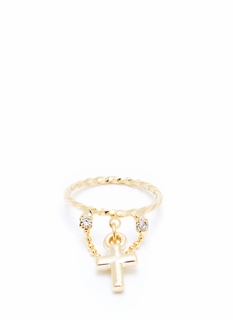 Cross Me Midi Ring