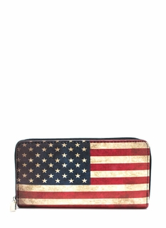 Old Glory Zip-Around Wallet