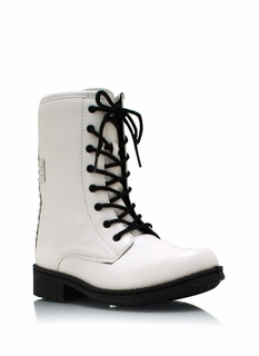 Cross Studded Combat Boots