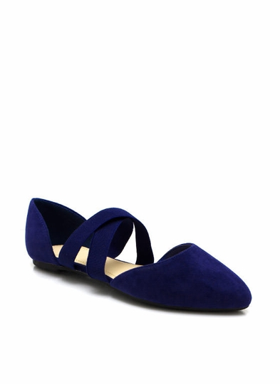 Crossing Lines Pointy Toe Flats