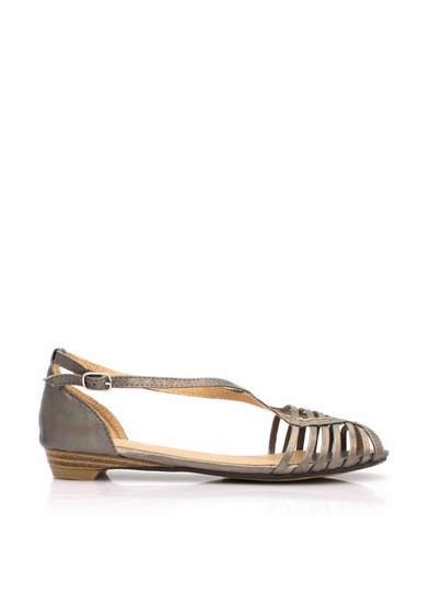 Crossing The Lines Metallic Sandals