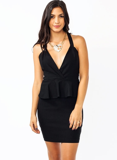 Crossroad Peplum Dress