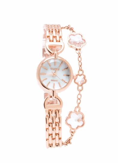 Crystal Flowers Bracelet Watch