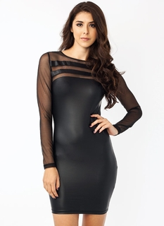 Curves Ahead Meshy Dress