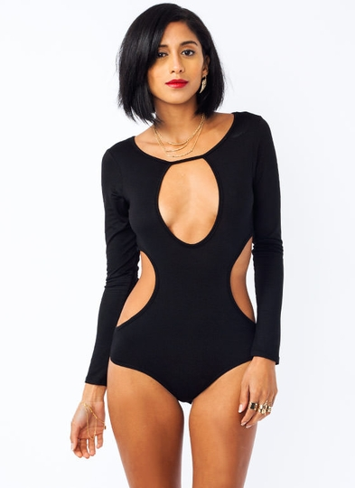 Curvy Cut-Out Bodysuit