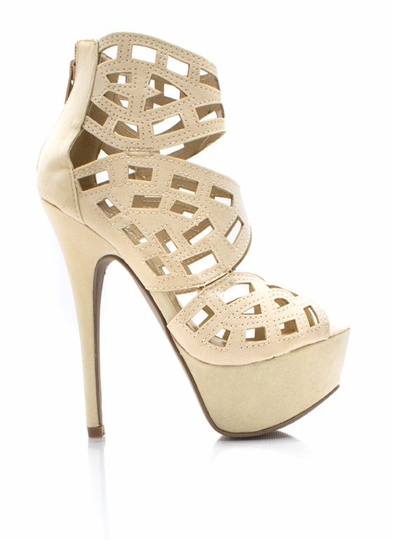Cut It Out Platform Heels
