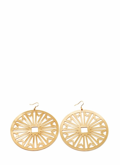 Cut Me Out Circle Earrings