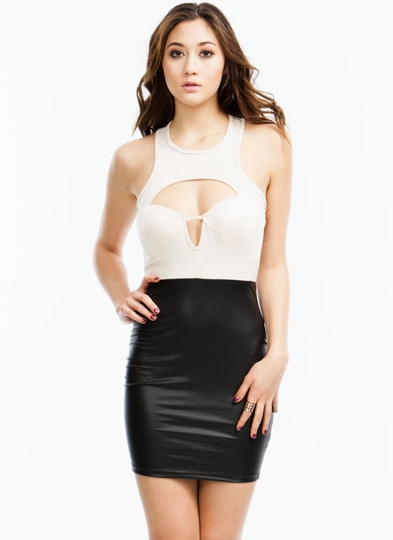 Cut-Out Bustier Bodycon Dress