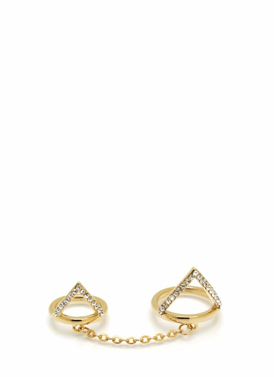Cut-Out Chained Ring Duo