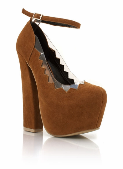 Cut-Out Faux Suede Platforms