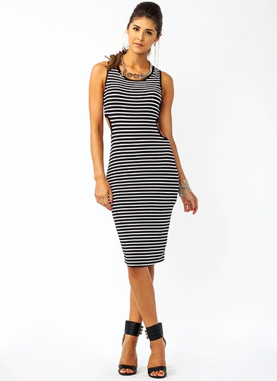 Cut Out For This Striped Dress