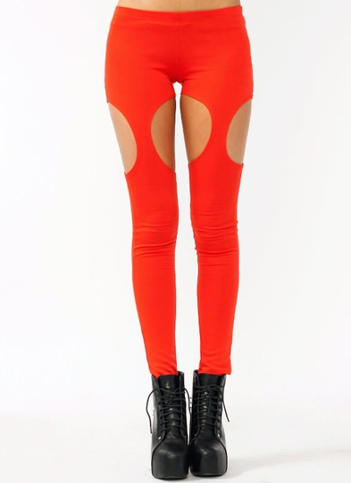 Cut-Out Garter Leggings