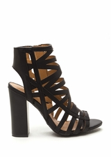 Cut-Out 'N Paste Faux Leather Heels