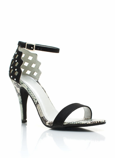 Cut-Out Reptile Heels
