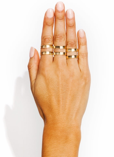 Cut Out Ring Trio