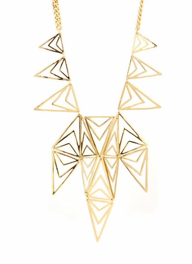 Cut-Out Triangle Necklace Set