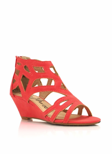 Cut-Out Wedge Sandals