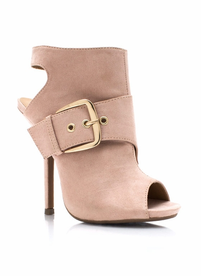 Cut The Wrap Buckled Booties