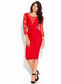 Cut To The Lace Midi Dress