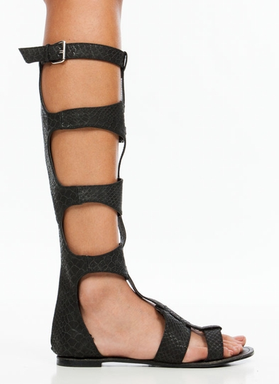 Cutthroat Reptile Gladiator Sandals