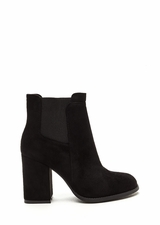 Daily Uniform Faux Suede Chunky Booties
