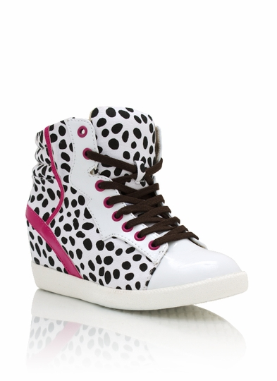 Dalmatian Contrast Wedge Sneakers