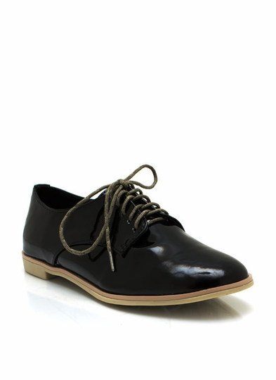 Dapper Faux Patent Oxfords