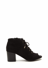 Day After Day Chunky Lace-Up Booties