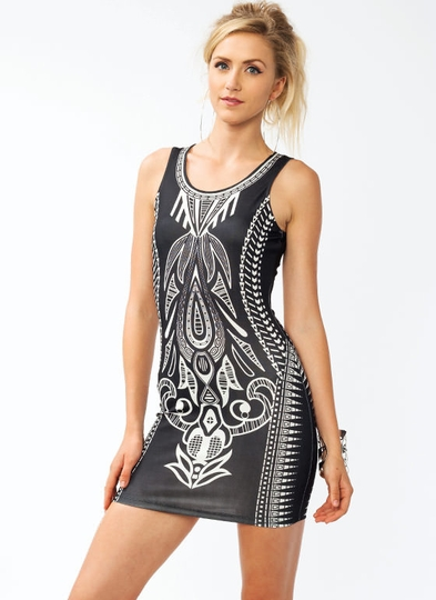 Deco Bodycon Dress