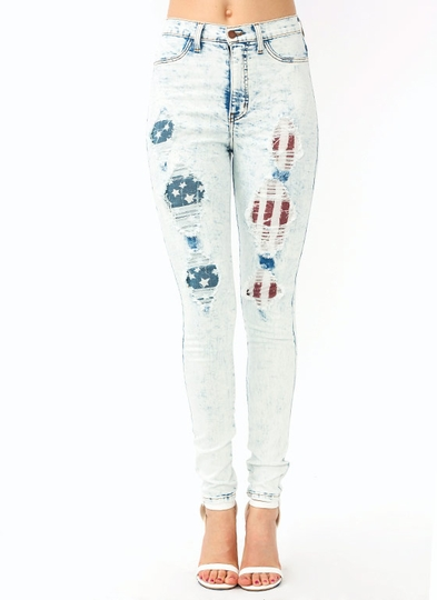 Destroyed Acid Wash Jeans