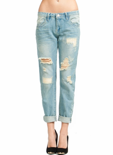 Destructed Relaxed Fit Jeans