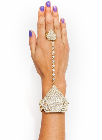 Diamond In The Rough Hand Bracelet