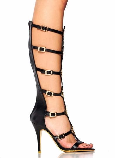 Diamond Studded Gladiator Heels